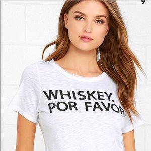 Chaser Whiskey Por Favor Graphic Tee Size Medium